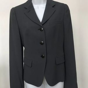 Armani Collezioni Grey Button Wool Blazer Size 6